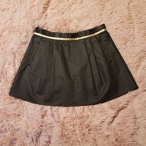 BCBGeneration Black Faux Leather Skirt Size 6 NWT